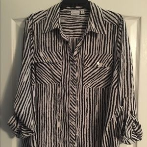 Kim Rogers Polyester and Spandex Blouse